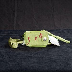 NWT Haiku Rumi Pouch Purse Green Recycled Material